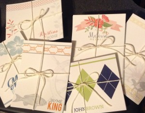 Personalized Notecards from www.dragonflycustomdesign.com