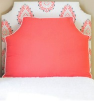 coral headboard pillow