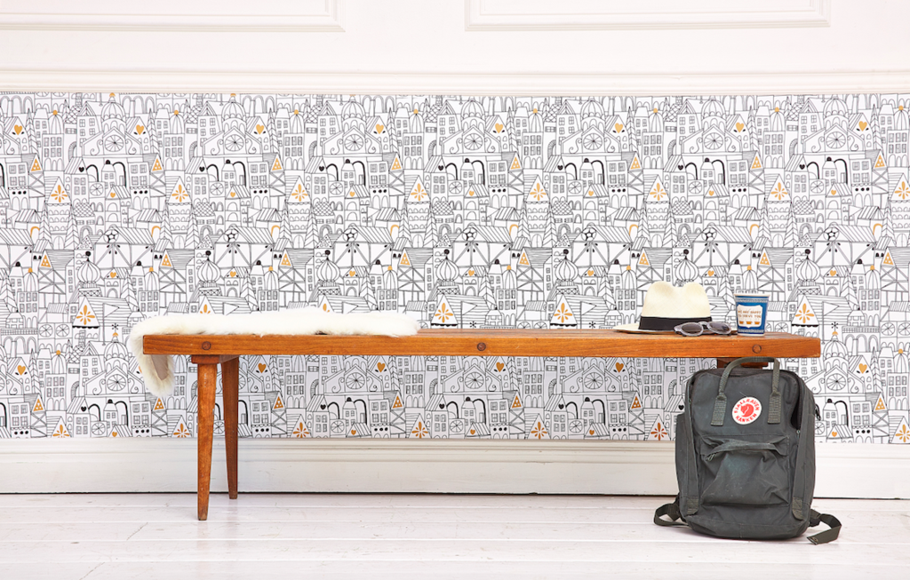 Dorm Decor and Small Space Solutions - Removable Wallpaper